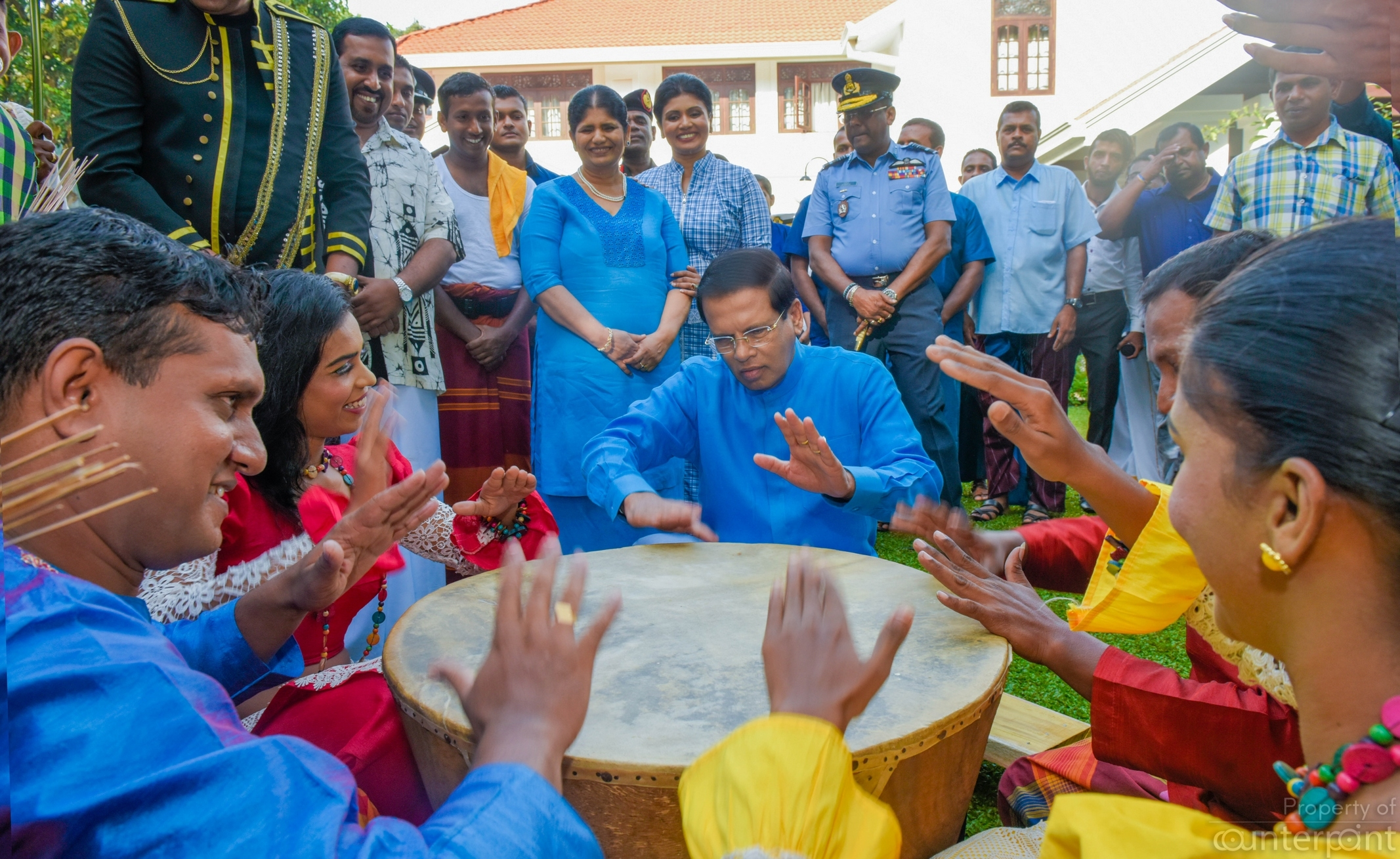 Playing the Rabana at this year's Avurudu festivities: Practicing for retirement?