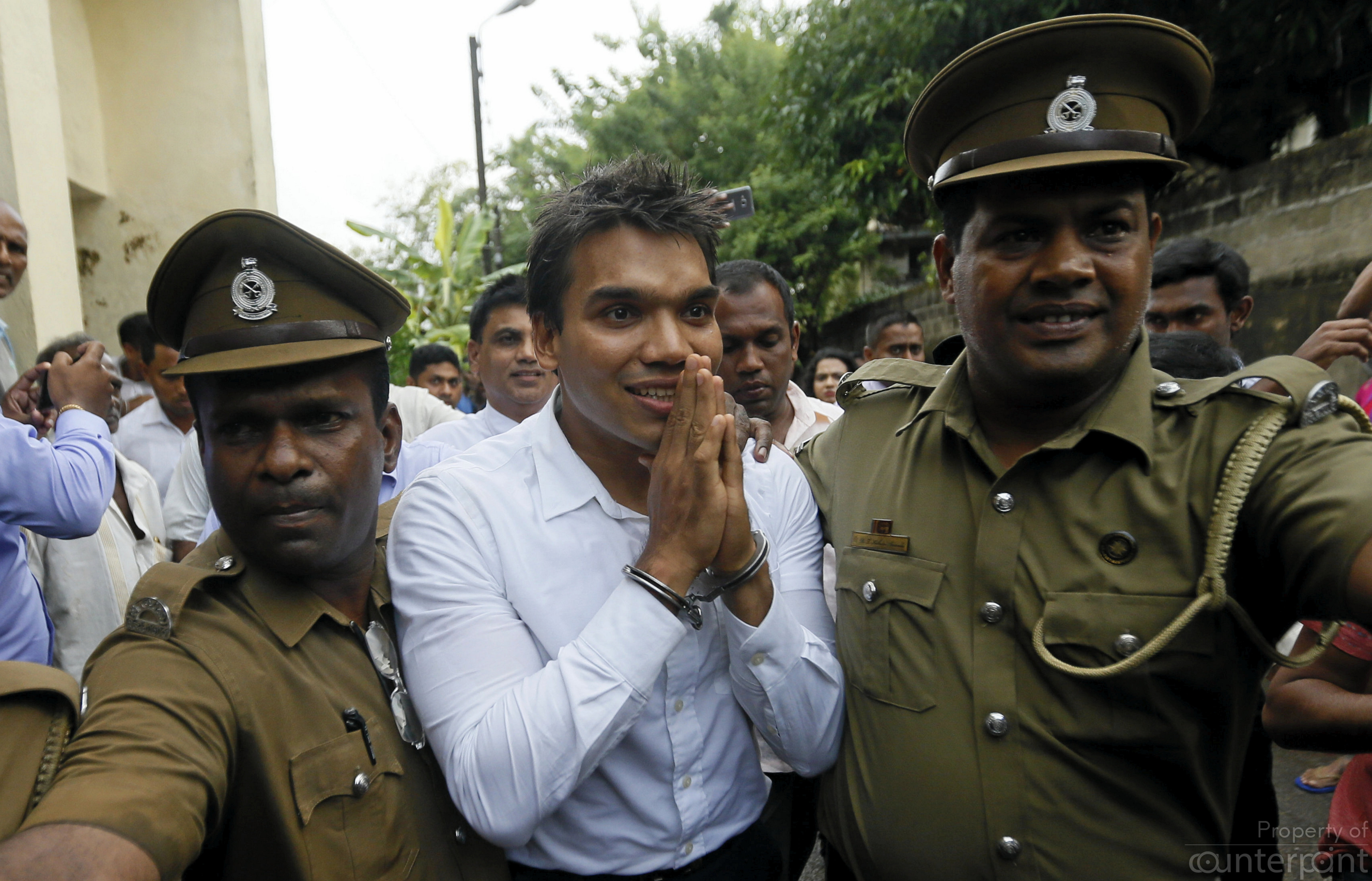 MP Namal Rajapaksa was arrested in 2016 on charges of money laundering.