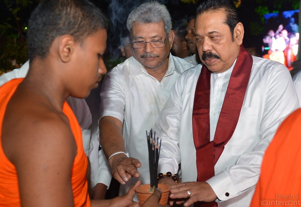 The two Rajapaksa heavy weights at a ceremony to mark war victory. Not everyone in the family is backing Gotabaya's claim for the next presidency.