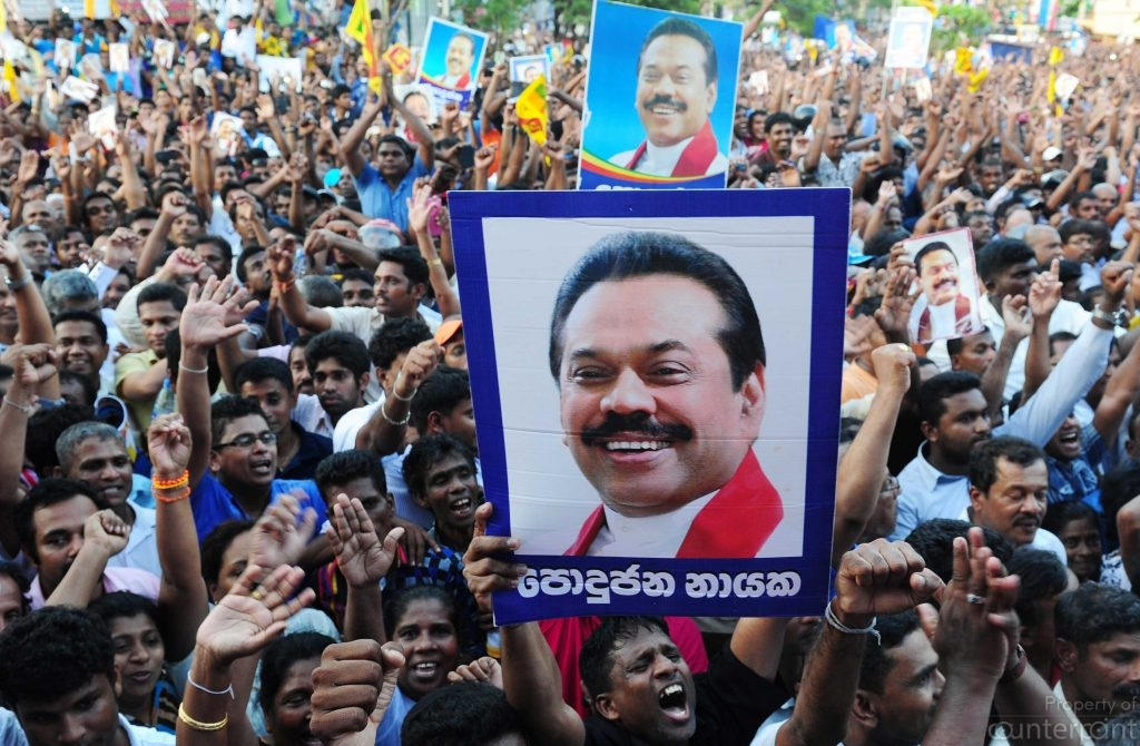 Even in defeat Mahinda Rajapaksa had a sizable support base of his own.