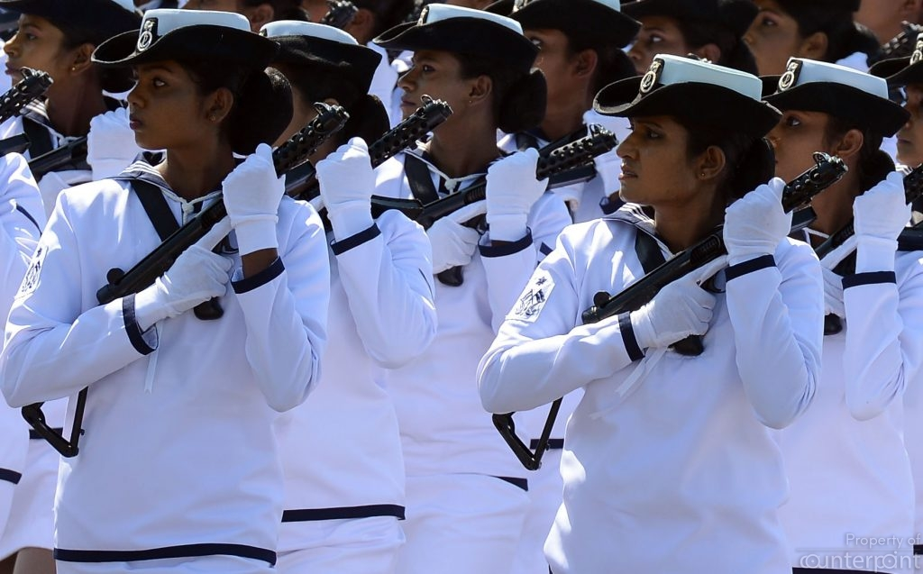 Women Naval soldiers march on Independence Day. Within a very short space of time, women navy soldiers moved from handling office work to combat duties. The Navy will have to make necessary changes fast to meet the challenges of peace time.