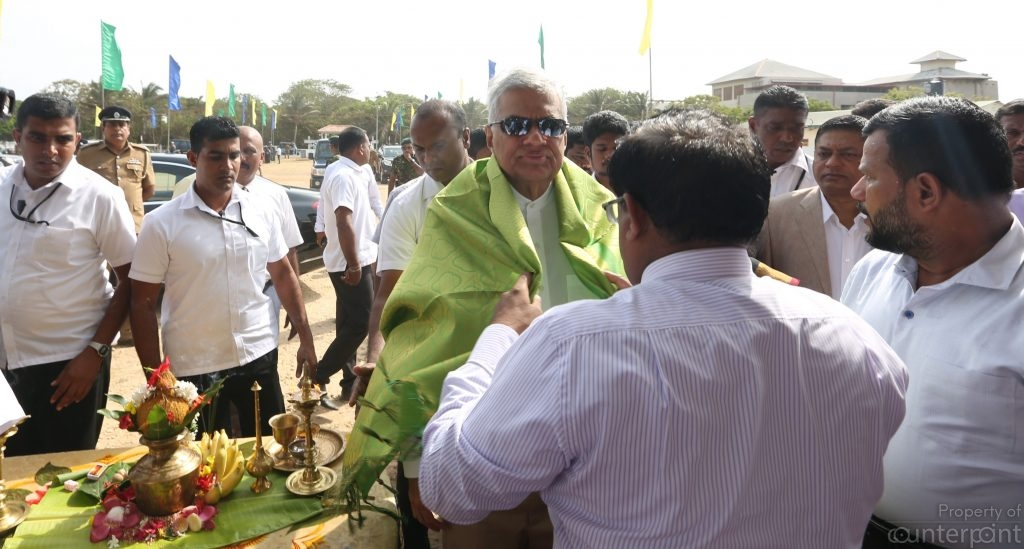 Prime Minister Ranil Wickremesinghe is spending more and more time in the North and East. But without a new constitution in place he may not get the minority votes again.
