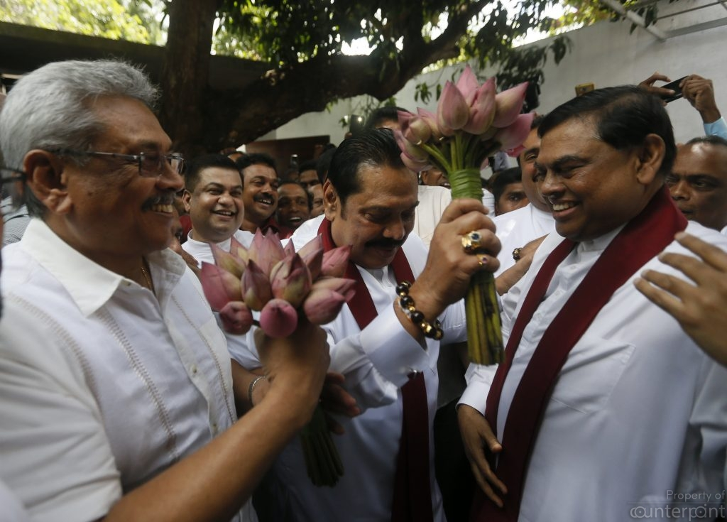 Gotabaya Rajapaksa's first visit to the SLPP office will not be the last. This seems to be a clear indication that Gotabaya is the first choice to run for the Presidency.