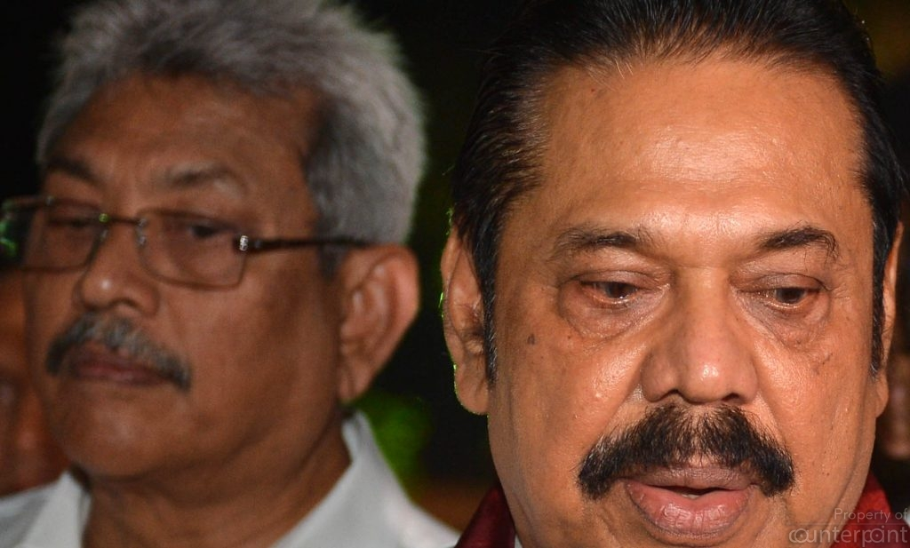 For a while it looked like Gotabhaya Rajapaksa was the front runner from the Mahinda Camp for the next Presidential contest. Now the party leaders want Mahinda to be the candidate if the courts say he can
