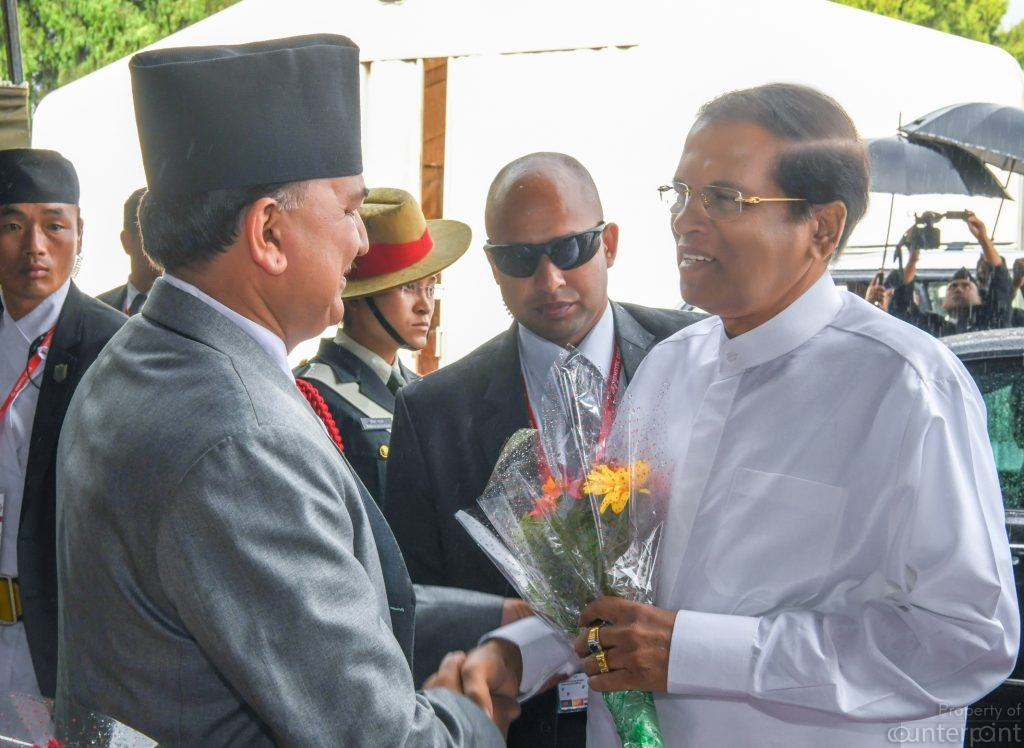 President Maithripala Sirisena had yet another successful foreign visit- this time to Nepal. But back home he is looking weaker by the day.