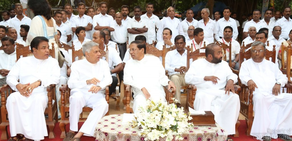 Prime Minister Ranil Wickremesinghe and President Maithripala Sirisena at the Poson festival in Mihintale earlier this year. Theirs has not been an easy alliance.