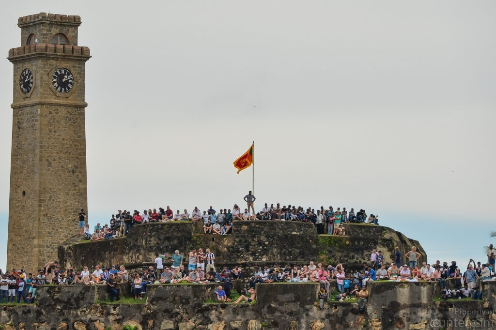 In Galle, this point offers a vantage view of the game.