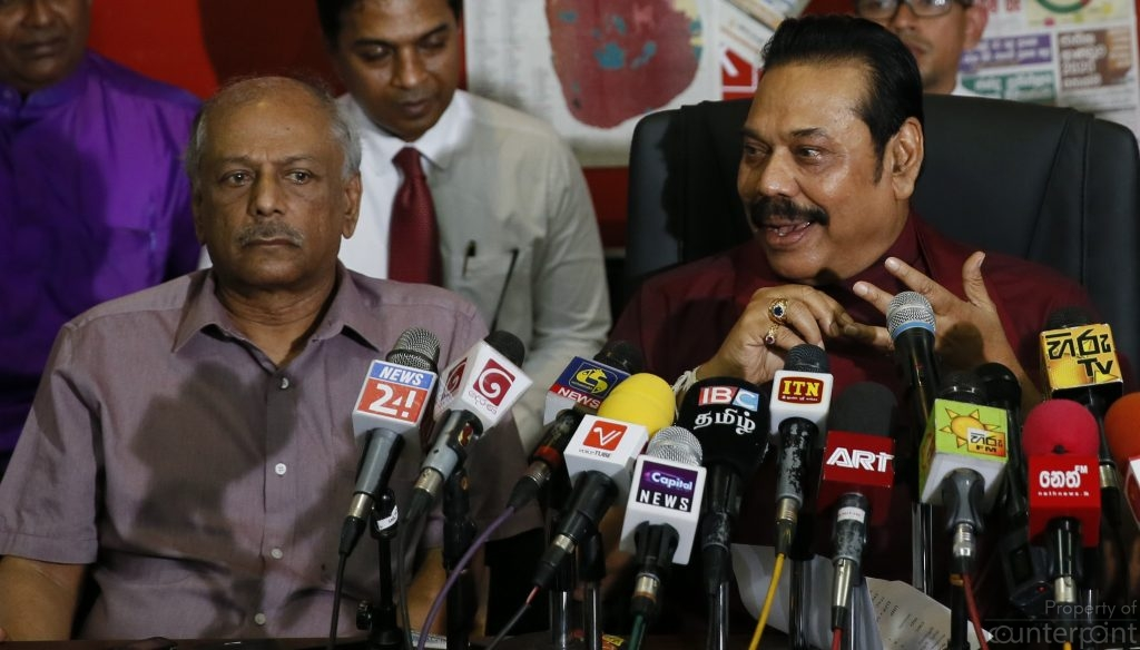"Though President Sirisena appointed Mahinda Rajapaksa Prime Minister, the government has not been accepted the UNP-led UNF, the TNA and the JVP. Dinesh Gunawardena seen in this picture was made the Leader of the House. But the ""governing"" side has spent little in Parliament."