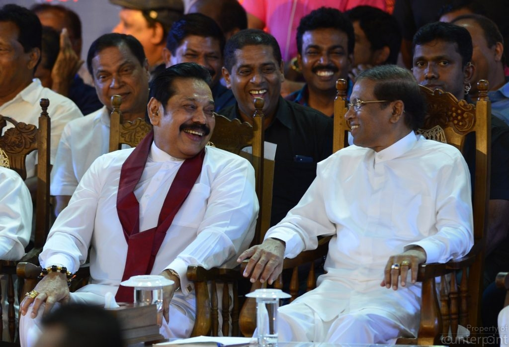 The President believed a majority of Parliamentarians were with him when he sacked Ranil Wickremesinghe and appointed Mahinda Rajapaksa as Prime Minister. Sirisena and Rajapaksa jointly attended a rally of their supporters to explain their actions, but failed to prevent an interim order being given by the Supreme Court.