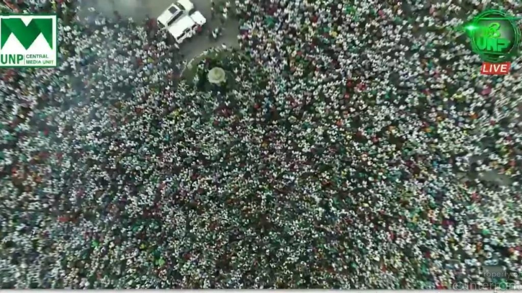 Ever since the political crisis began, the UNP has drawn massive crowds to protest the President's actions. However, only an election would reveal its real standing with the people.