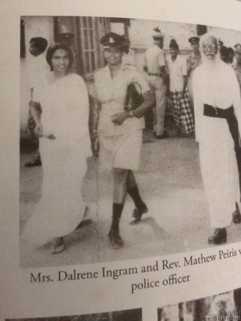 Dalrene Ingram and Fr. Mathew Pieris, the two accused in the murder case, which came to be known as the Vicarage Murders. Jacqueline's portrayal of Dalrene was a far cry from the way the latter dressed. (Courtsey, Murder at the Vicarage, the Mathew Peiris case, by Professor Ravindra Fernando.)