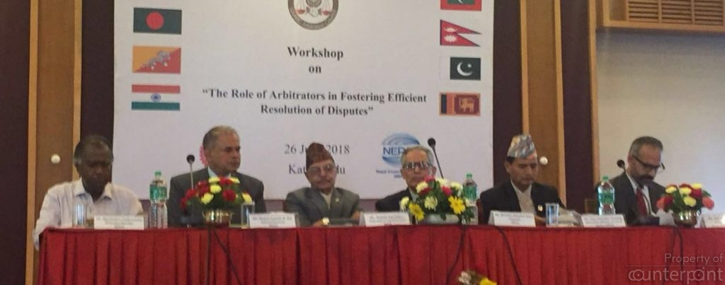 "The SAARC Secretary General addressed the inaugural session of a workshop on the ""The Role of Arbitrators in fostering efficient resolution of disputes"" held in June this year. India and Pakistan, two SAARC members are yet to resolve their dispute over Jammu Kashmir. (Picture Courtesy SAARC website)"
