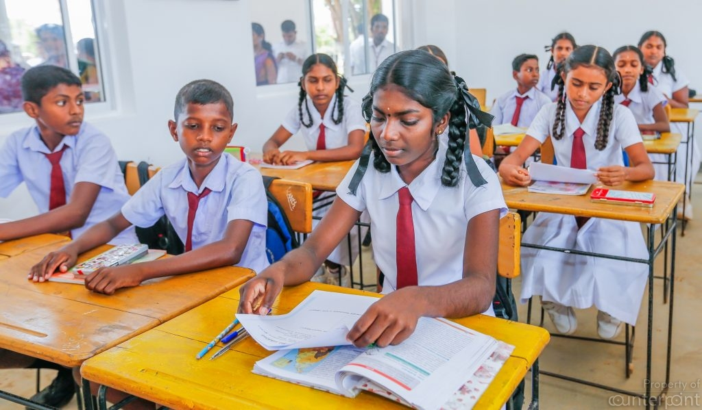 Children prepare to write an exam paper. The gap in services in schools run by the State is very apparent, not only in rural areas, but in the more developed provinces too.