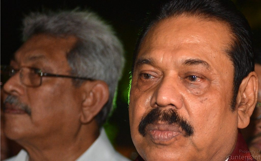 Gotabhaya Rajapaksa, (left) with brother, Leader of the Opposition, Mahinda Rajapaksa. Will Gotabhaya get the brothers blessings to be a future President?