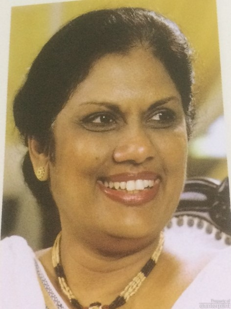 Chandrika Bandaranaike Kumaratunga, was the fourth person and the first woman to be Executive President. (Picture courtesy 'Parliament of Sri Lanka, Asia's Oldest Democracy')