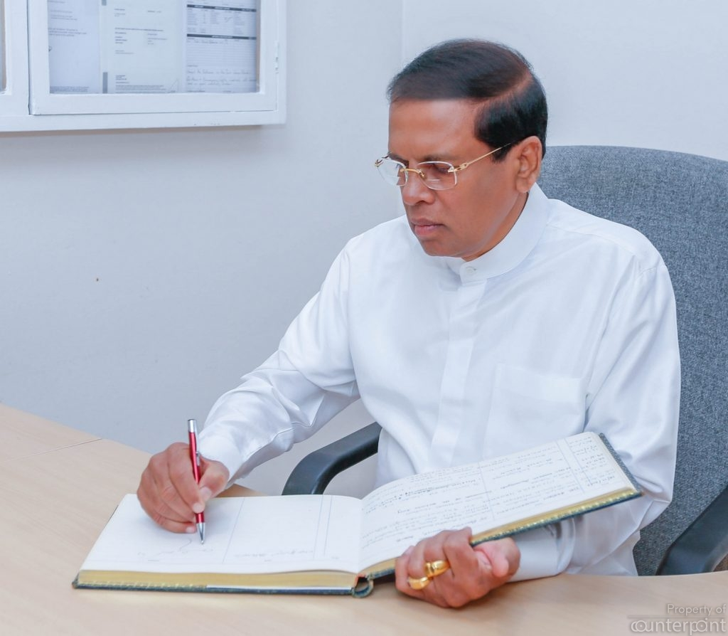 President Sirisena desperately seeks a second term. Who will back him?