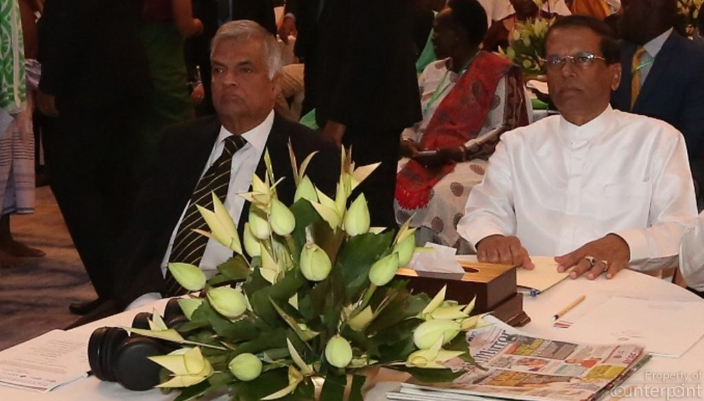 President Maithripala Sirisena and Prime Minister  Ranil Wickremesinghe are not always seen together at events. Will Sirisena succeed in his bid to run for the Presidency a second time?