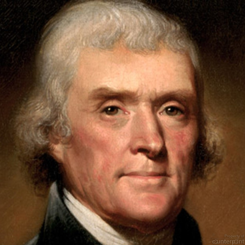 A former President of the United States, Thomas Jefferson who advocated the separation of State and religion. (courtesy en. wikepedia.org)