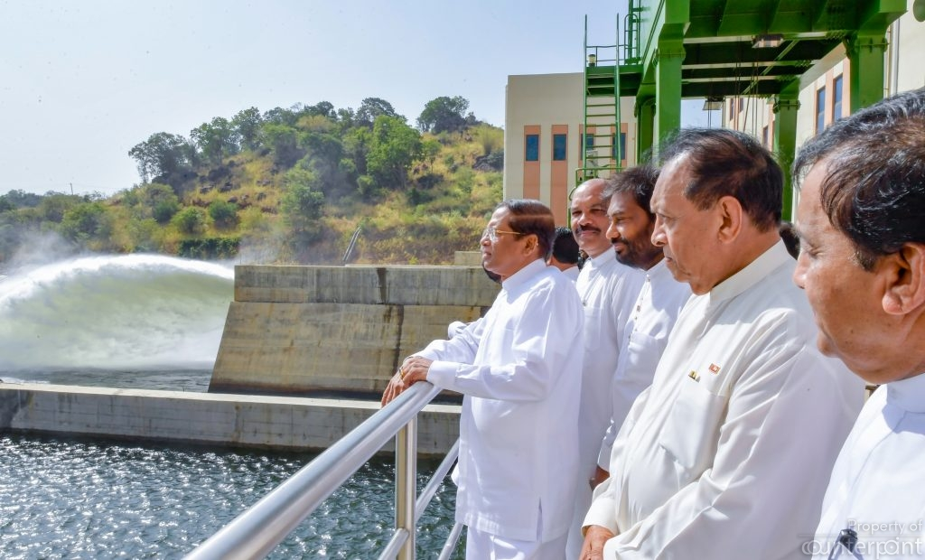 The Moragahakanda Resevoir was commissioned by President Maithripala Sirisena in 2018.