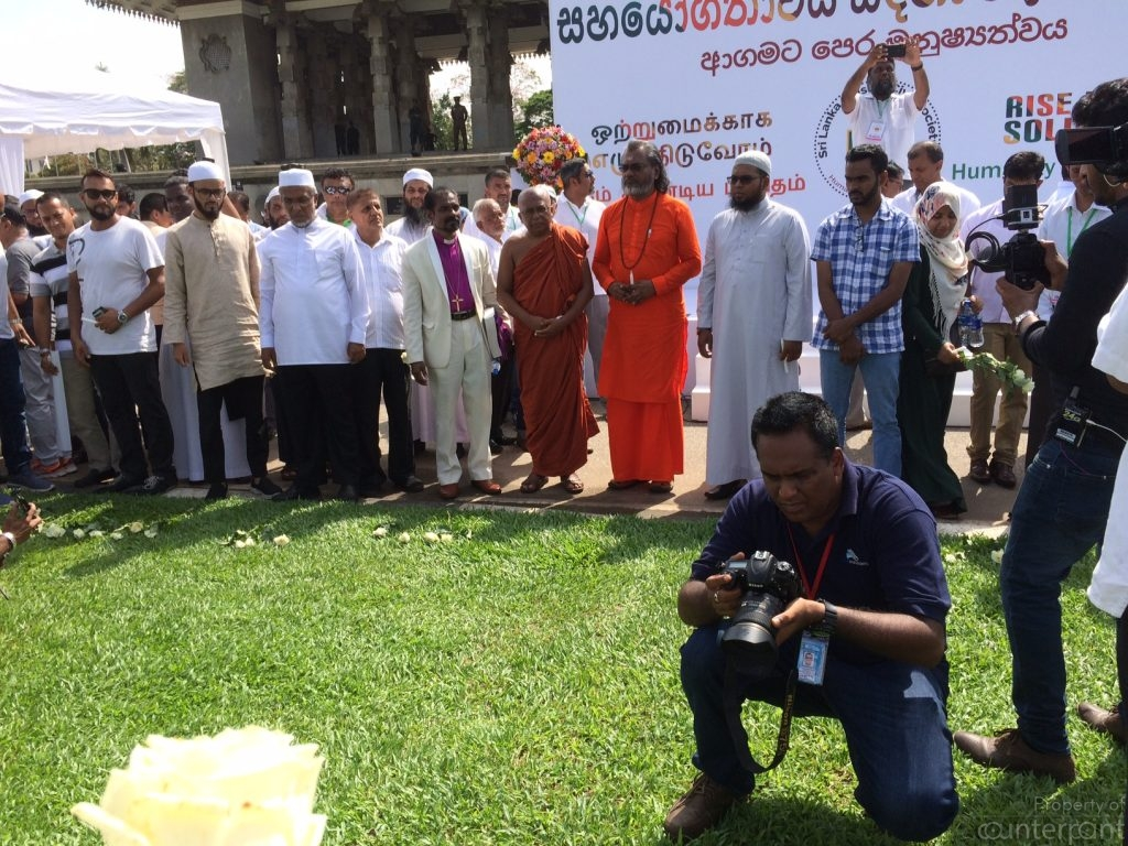 Buddhist, Christian, Islamic and Hindu religious leaders came together to pray for peace.