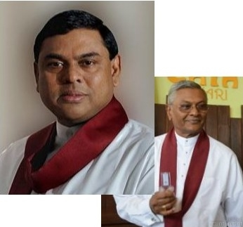 Political circles state that one of two other Rajapaksa brothers, Chamal (left) or Basil (right) could be named by their brother and SLPP Leader Mahinda Rajapaksa as the Presidential candidate.