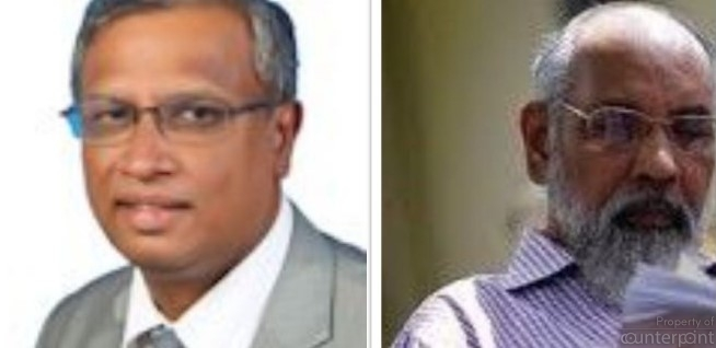 Northern Province Chief Minister C V Vigneswaran (right) hopes to eat into the TNA voter base. As TNA MP Sumanthiran (left) stated recently, only an election will reveal how popular his party still is with the northern voter.