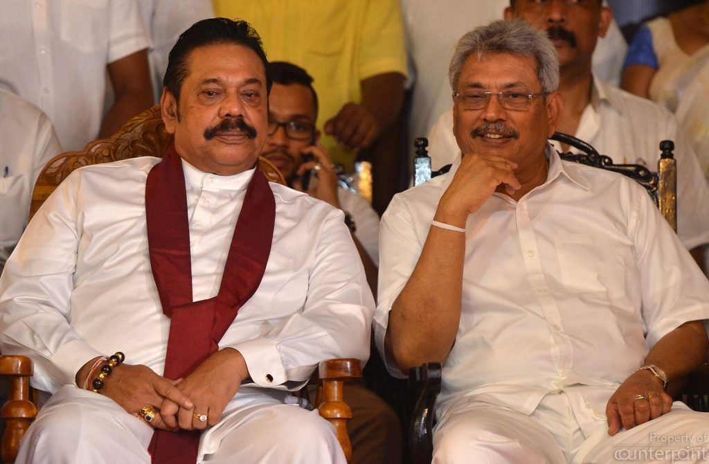Gotabhaya Rajapaksa (right) is certain, brother Mahinda(left) will anoint him the SLPP's presidential candidate.