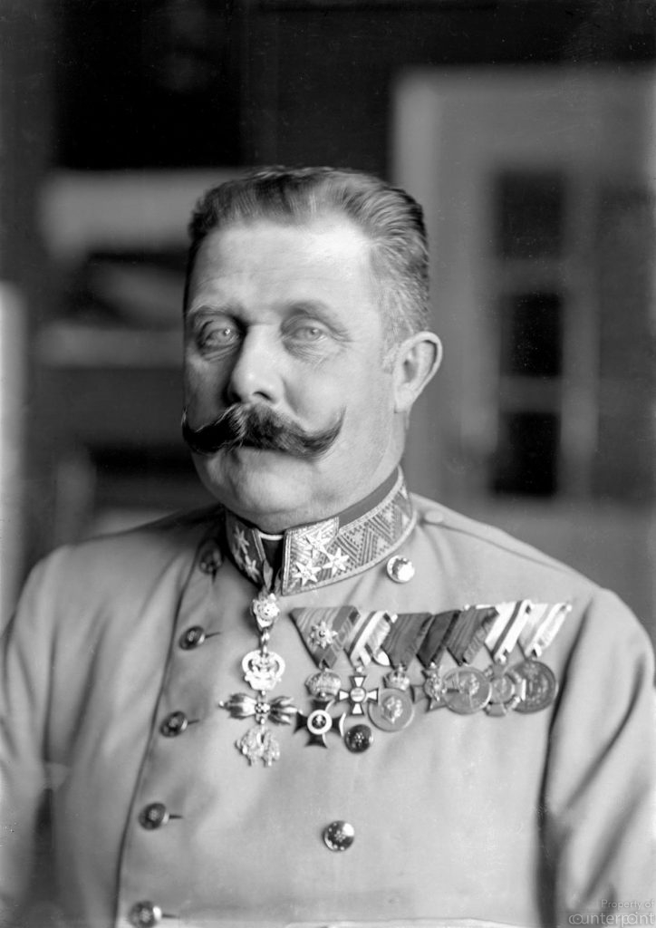 The assassination of Austrian Archduke, Franz Ferdinand set the stage for World War 1(Courtesy Wikipedia.org)