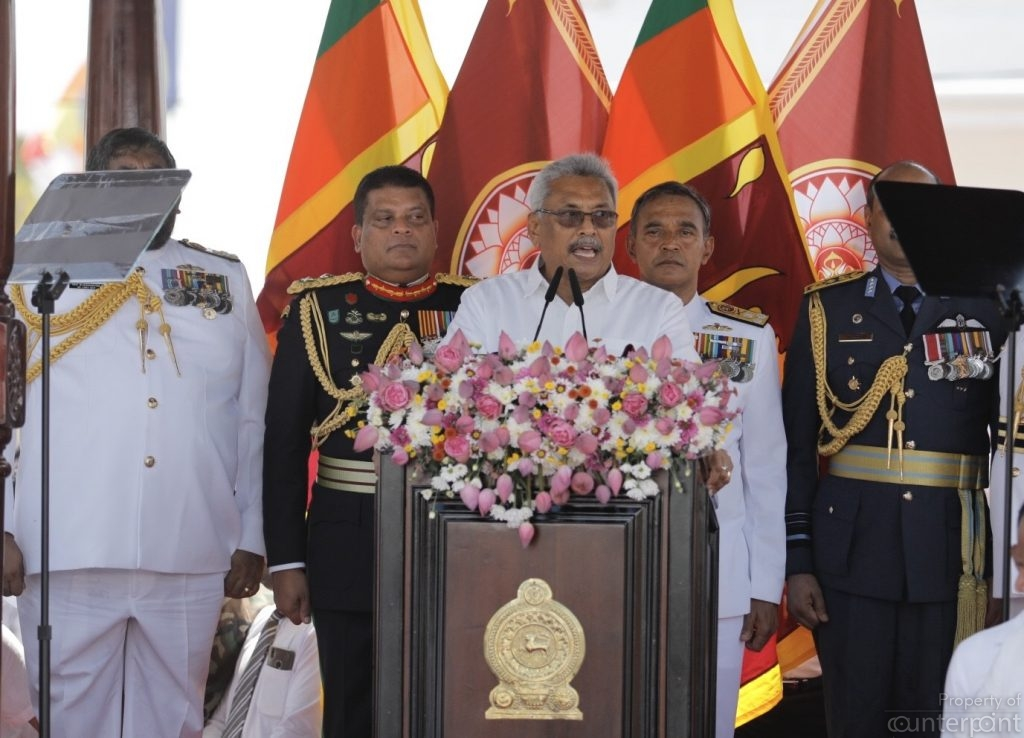President Gotabaya Rajapaksa, is no orator and chooses his words carefully.