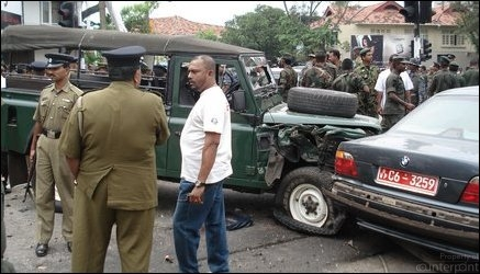 Vehicles damaged in the Pittala Junction blast