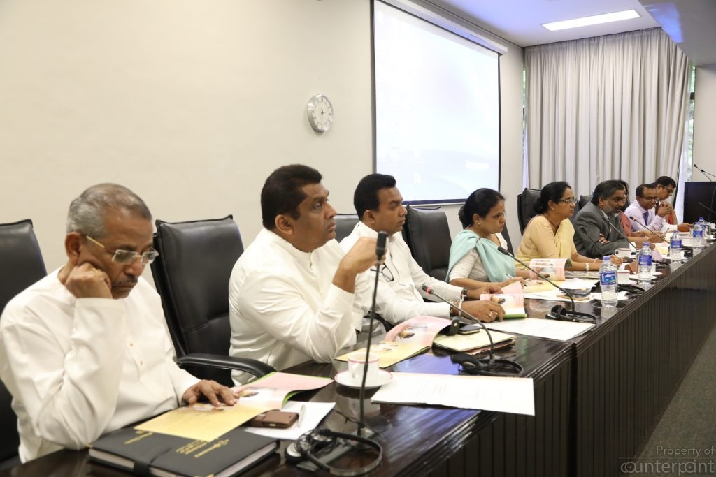 Members of the two Sectoral Oversight Committees (Courtesy Parliament media)
