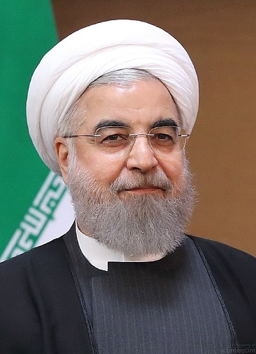Iran's President Hassan Rouhani has,not yet taken a tough a stand against the US, as the ultra-conservative Ayatollah's who ruled Iran previously. Will that change now? (courtesy Wikipidia.org)