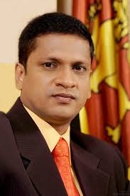 Deputy Minister Nimal Lanza wants to know how MP Ramanayake came by 150 live rounds for his pistol. (courtesy FB)