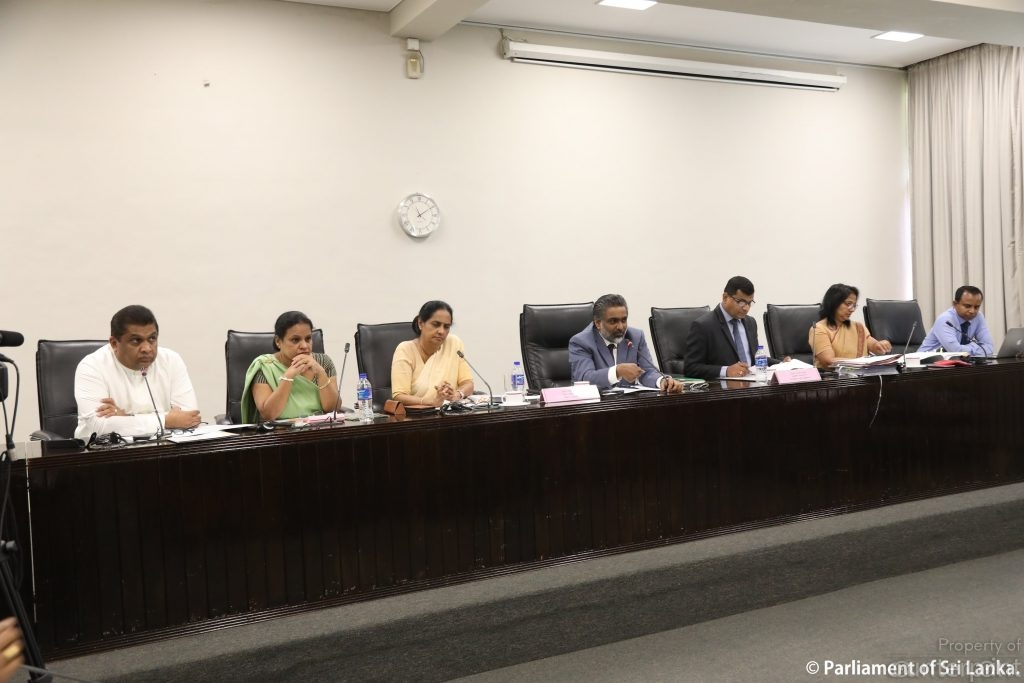 Members of the Sectoral Oversight Committee on Women and Gender listening to submissions at the meeting held on January 9th. (courtesy parliament media)