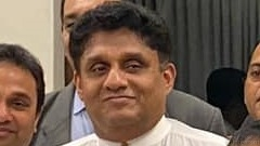 Opposition Leader Sajith Premadasa continues to be stymied by Party Leader Ranil Wickremesinghe ( courtesy Sajith Premadas FB)