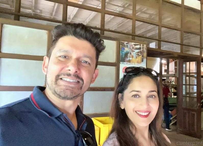 Comments and photos shared on social media indicate that Bollywood actress Madhuri Dixit and husband Sriram Madhav Nene enjoyed their visit to Sri Lanka.