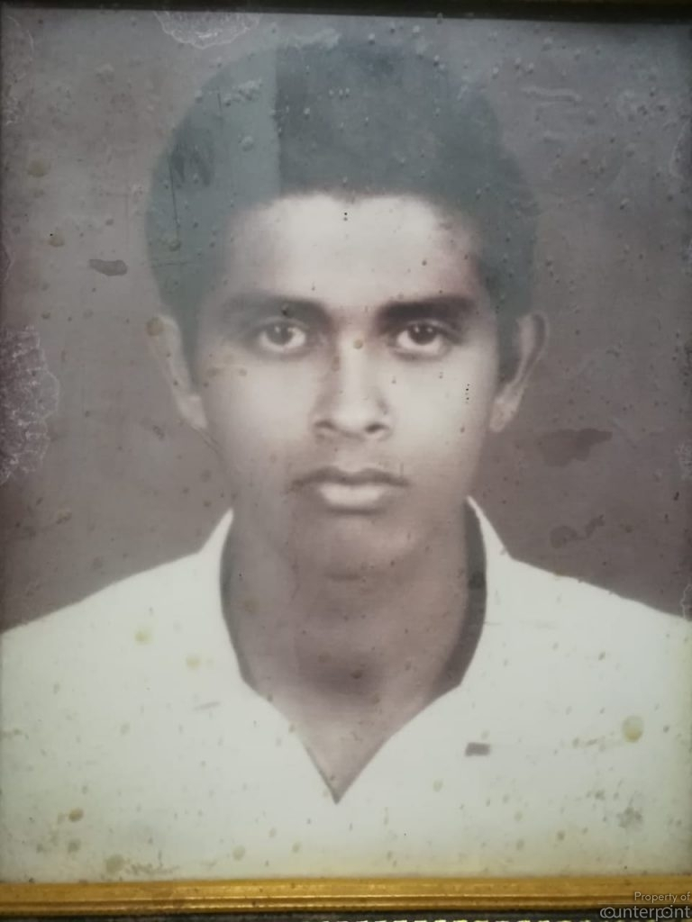 Brother Sarath gave up his university studies and became fully involved in the revolution.