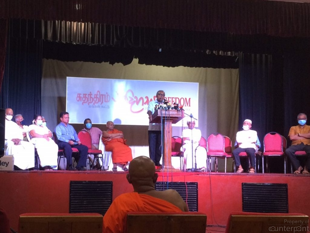 Professor Sarath Wijesuriya addressing the gathering.